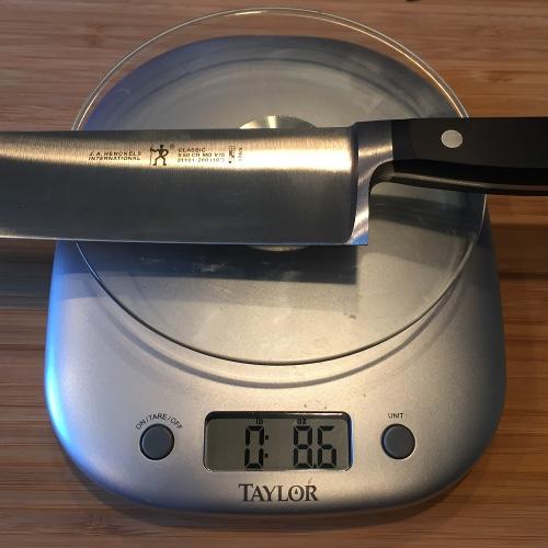 J.A. Henckels International Classic Chef's Knife Weight